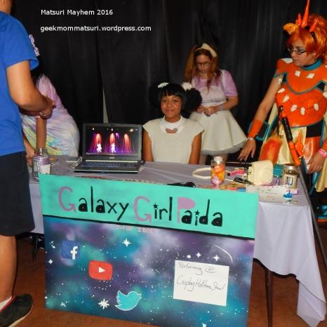 galaxy girl paida vendor table